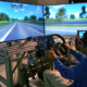 Eye Tracking used in a driving simulator.