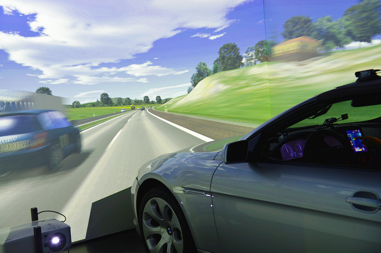 Simulation of a road with Virtual Reality.